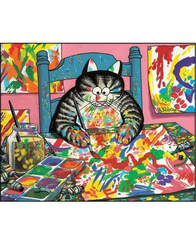 Puzzle Pomegranate de 100 piese - Pisica pictor, Bernard Kliban - 2