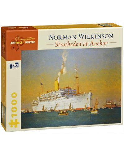 Puzzle Pomegranate de 1000 piese - Acostare Stratheden, Norman Wilkinson - 1