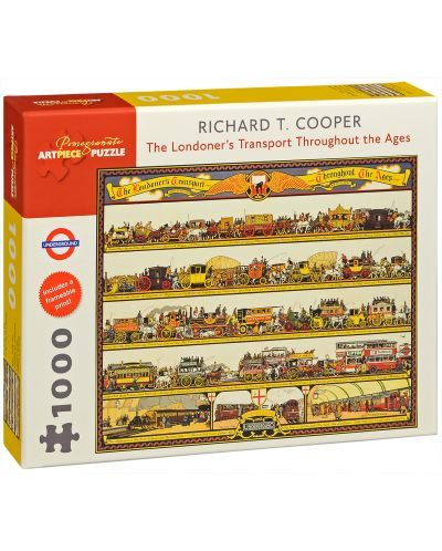 Puzzle Pomegranate de 1000 piese - Transportul Londrei, Richard Cooper - 1