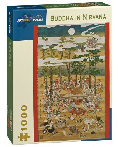 Puzzle Pomegranate de 1000 piese – Buda in Nirvana, Hanabusa Itcho - 1