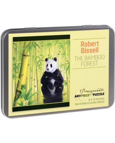 Puzzle Pomegranate de 100 piese - Padurea de bambus, Robert Bissell - 1
