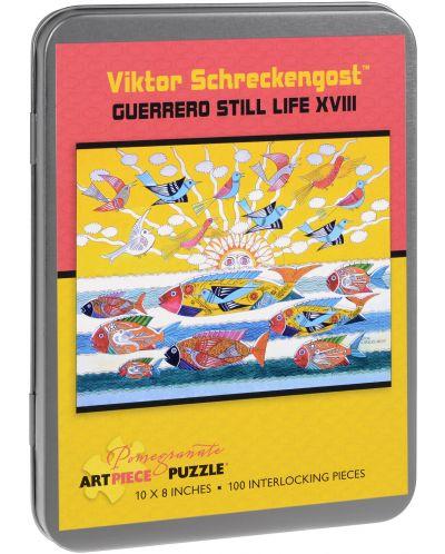 Puzzle Pomegranate de 100 piese - Viata rece XVIII, Viktor Schreckengost - 1