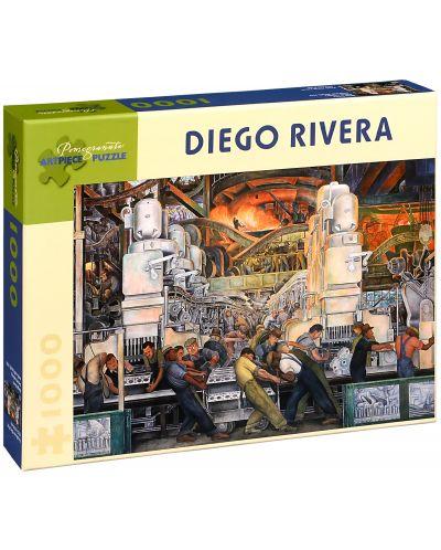 Puzzle Pomegranate de 1000 piese - Industria din Detroit, Diego Rivera - 1