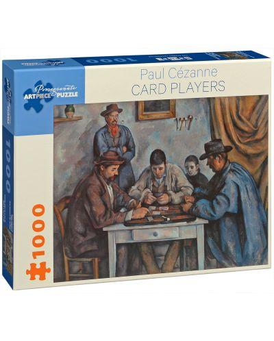 Puzzle Pomegranate de 1000 piese - Jucatori de carti, Paul Cézanne - 1