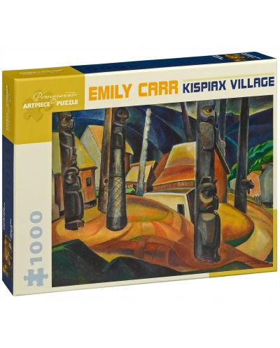 Puzzle Pomegranate de 1000 piese - Satul Kispiax, Emily Carr - 1