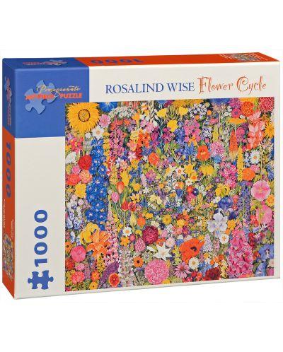 Puzzle Pomegranate de 1000 piese - Cerc de flori, Rosalind Wise - 1
