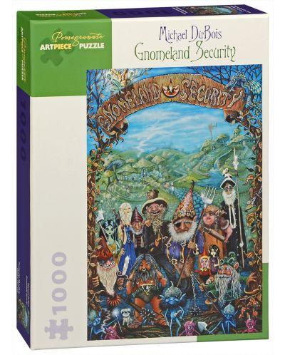 Puzzle Pomegranate de 1000 piese - Paza in tara gnomilor, Michael Dubois - 1