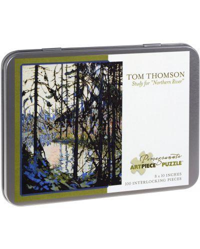 Puzzle Pomegranate de 100 piese - Studiul Raului nordic, Tom Thomson - 1