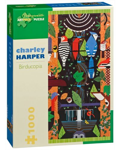 Puzzle Pomegranate de 1000 piese - Birducopia, Charley Harper - 1