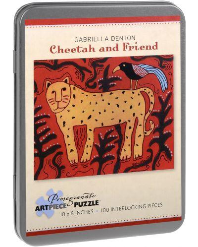 Puzzle Pomegranate de 100 piese - Leopard si prieten, Gabriella Denton - 1