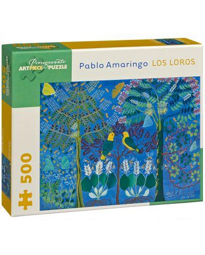 Puzzle Pomegranate de 500 piese - Papagali, Pablo Amaringo - 1