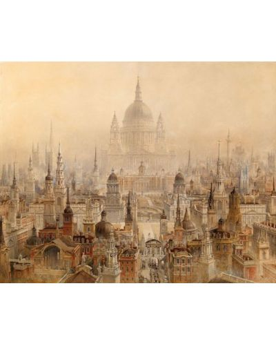 Puzzle Pomegranate de 1000 piese - In onoarea lui Sir Christopher Wren, Charles Cockerell - 2