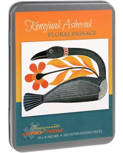Puzzle Pomegranate de 100 piese - Pasaj colorat, Kenojuak Ashevak - 1