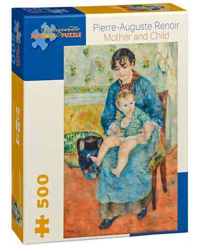 Puzzle Pomegranate de 500 piese - Mama si copil, Pierre Renoir - 1