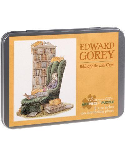 Puzzle Pomegranate de 100 piese - Bibliotecar cu pisica,Edward Gorey - 1