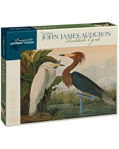 Puzzle Pomegranate de 1000 piese - Egreta rosiatica, John James Audubon - 1