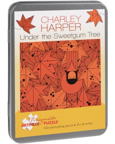 Puzzle Pomegranate de 100 piese - Sub arbore de gumă, Charley Harper - 1