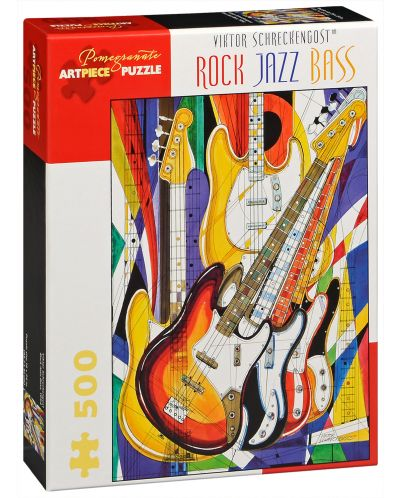 Puzzle Pomegranate de 500 piese - Rock, Jazz, Bas, Victor Shreckengost - 1