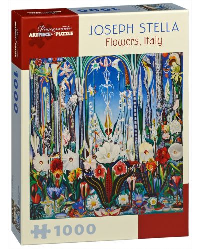 Puzzle Pomegranate de 1000 piese - Flori in Italia, Joseph Stella - 1