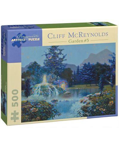 Puzzle Pomegranate de 500 piese - Fantana gradinii, Cliff McReynolds - 1