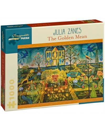 Puzzle Pomegranate de 1000 piese - Mediul de aur, Julia Zanes - 1