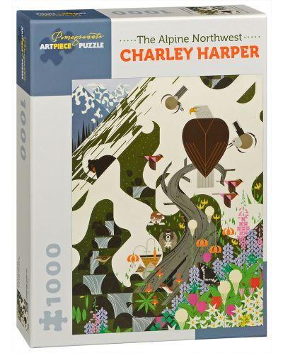 Puzzle Pomegranate de 1000 piese - Nord-vestul alpin, Charley Harper - 1