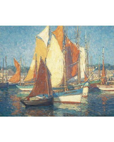 Puzzle Pomegranate de 1000 piese - Portul Bretania, Edgar Payne - 2