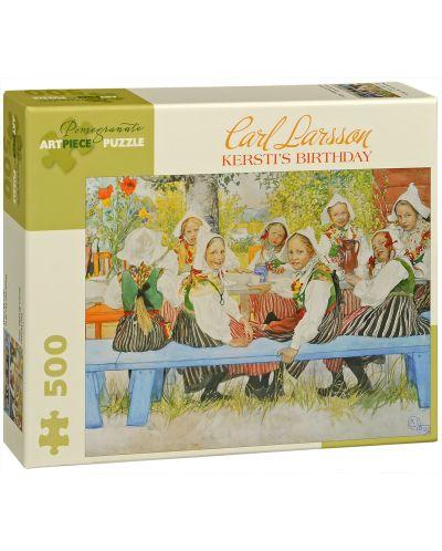 Puzzle Pomegranate de 500 piese - Ziua de nastere a lui Kersti, Carl Larsson - 1