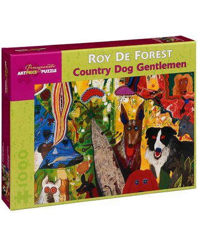 Puzzle Pomegranate de 1000 piese - Cainele provincial – gentlemen, Roy De Forest - 1