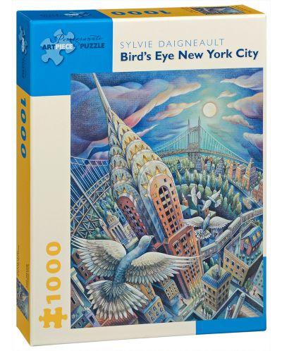 Puzzle Pomegranate de 1000 piese - New York prin ochii pasarilor, Sylvie Daigneault - 1