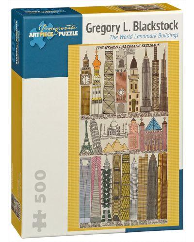 Puzzle Pomegranate de 500 piese – Cladirile remarcabile ale lumii, Gregory Blackstok - 1