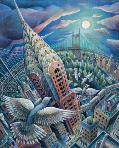 Puzzle Pomegranate de 1000 piese - New York prin ochii pasarilor, Sylvie Daigneault - 2
