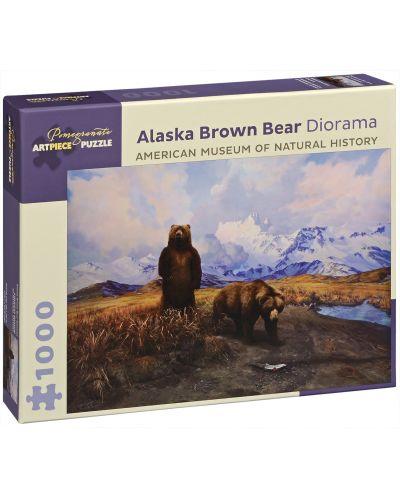 Puzzle Pomegranate de 1000 piese - Ursul maro in Alaska, Siri Shilios - 1