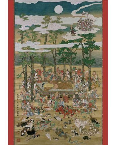 Puzzle Pomegranate de 1000 piese – Buda in Nirvana, Hanabusa Itcho - 2