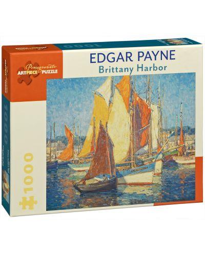 Puzzle Pomegranate de 1000 piese - Portul Bretania, Edgar Payne - 1