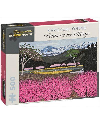 Puzzle Pomegranate de 500 piese - Flori in sat , Kazuyuki Ohtsu - 1