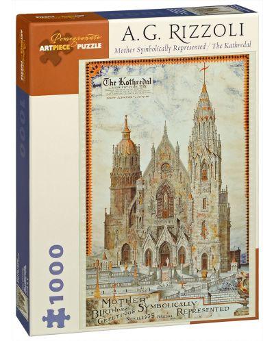 Puzzle Pomegranate de 1000 piese - Catedrala, A.G. Rizzoli - 1