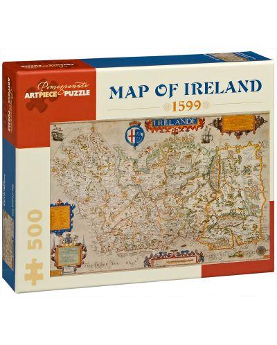 Puzzle Pomegranate de 500 piese - Harta Irlandei din anul 1599 - 1