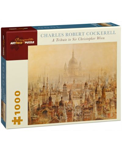 Puzzle Pomegranate de 1000 piese - In onoarea lui Sir Christopher Wren, Charles Cockerell - 1
