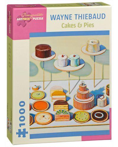 Puzzle Pomegranate de 1000 piese - Torturi si placinte, Wayne Thiebaud - 1