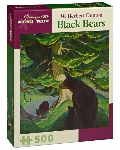 Puzzle Pomegranate de 500 piese -  Ursi negri, W. Herbert Dunton - 1