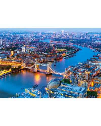Puzzle Castorland de 1000 piese - Londra vazuta prin ochii paserei - 2