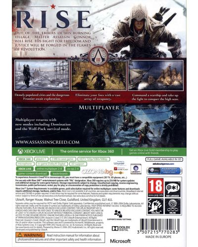 Assassin's Creed III - Classics (Xbox One/360) - 3