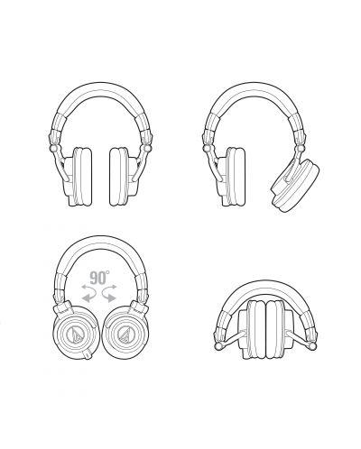 Casti Audio-Technica ATH-M50X - negre - 4