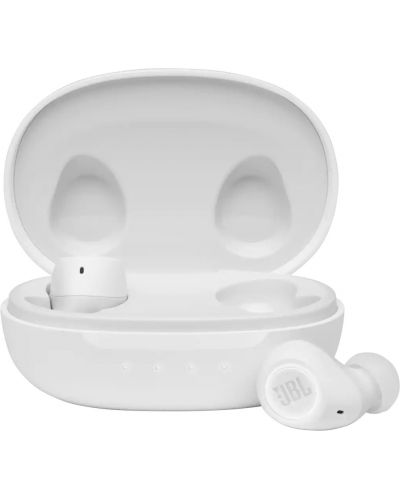 Casti wireless cu microfon JBL - FREE II, TWS, albe - 1