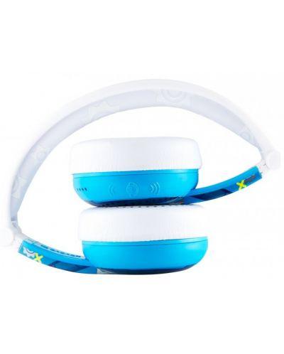 Casti wireless cu microfon BuddyPhones - WAVE ROBOT, albastre - 4