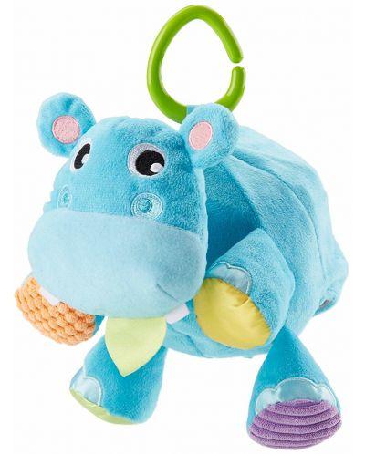 Jucarie pentru bebelusi Fisher Price - Hipopotam, 2 in 1 - 1