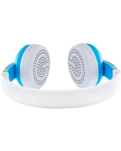 Casti wireless cu microfon BuddyPhones - WAVE ROBOT, albastre - 2