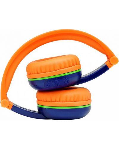 Casti wireless BuddyPhones - SCOUT PLAY, albastre/portocalii - 3