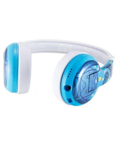 Casti wireless cu microfon BuddyPhones - WAVE ROBOT, albastre - 3